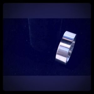 New Men's Silver Stainless Steel Ring Size 10 1/2